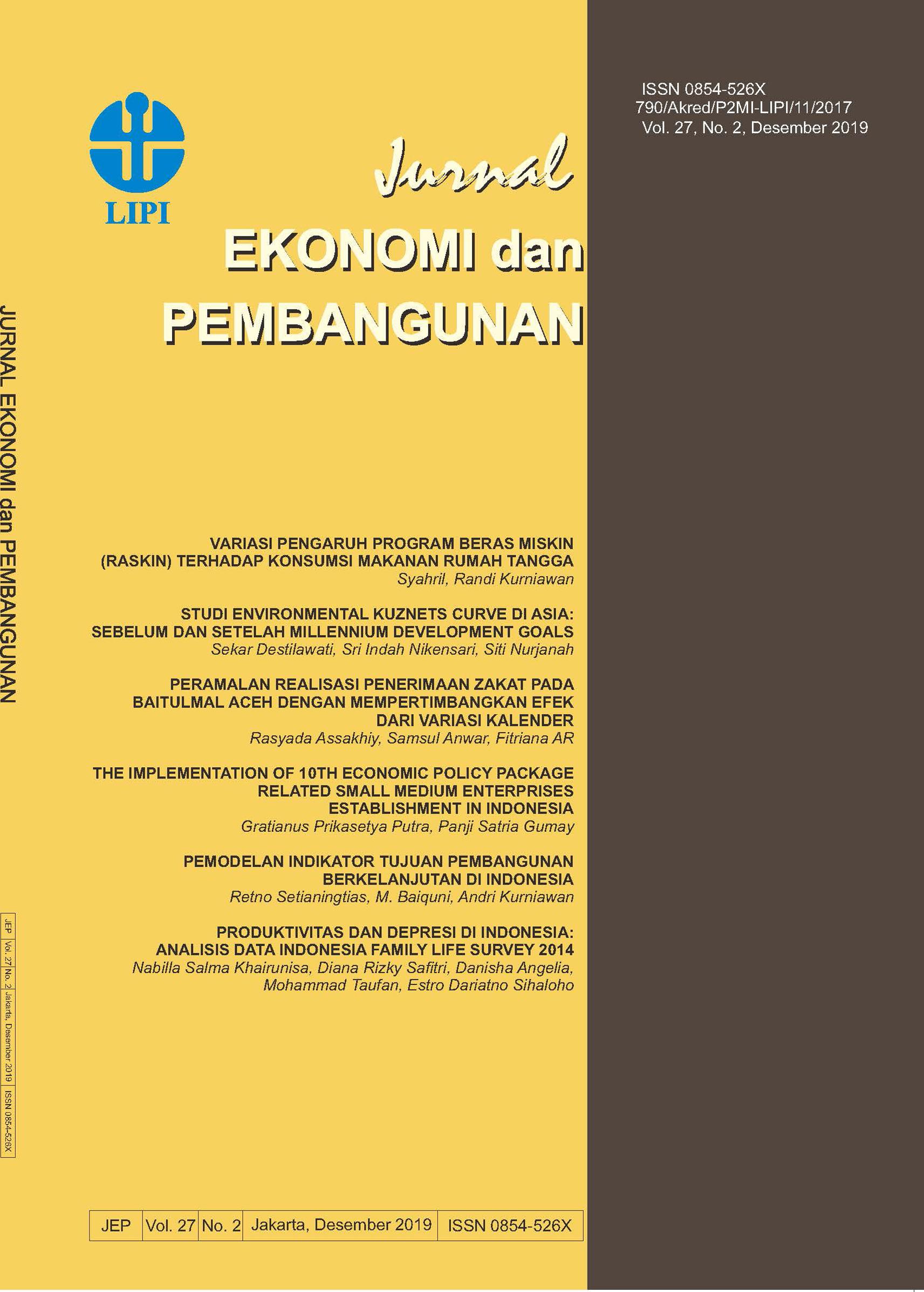 Jurnal Ekonomi Dan Pembangunan